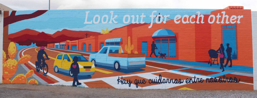 """Mural on 6th and 26th - """"Look Out of Eachother"""""""
